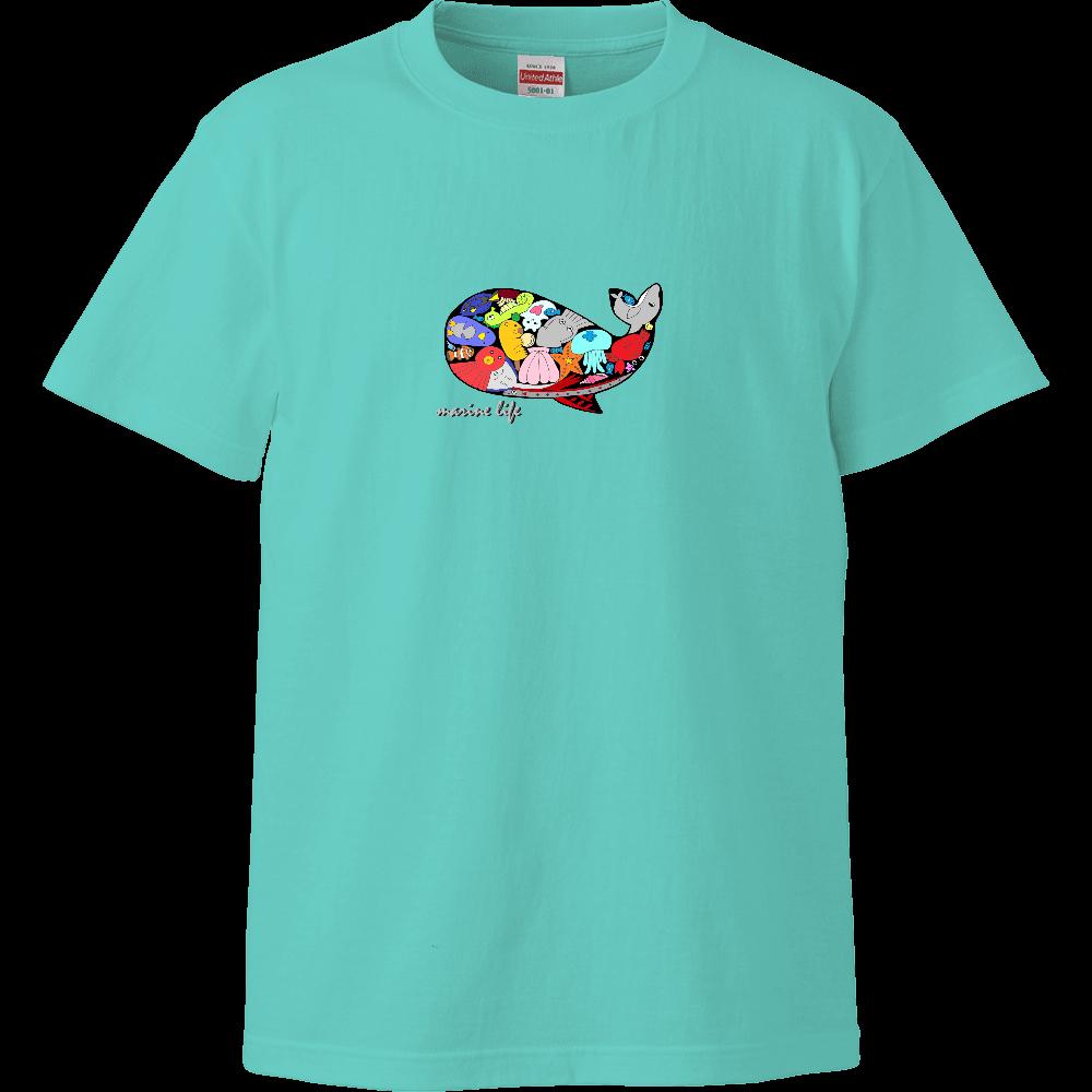 くじら/カラー ハイクオリティーTシャツ