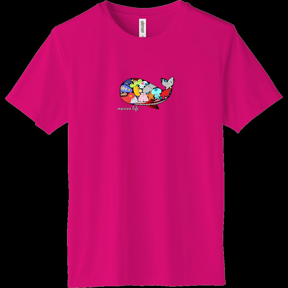 くじら/カラー インターロックドライTシャツ