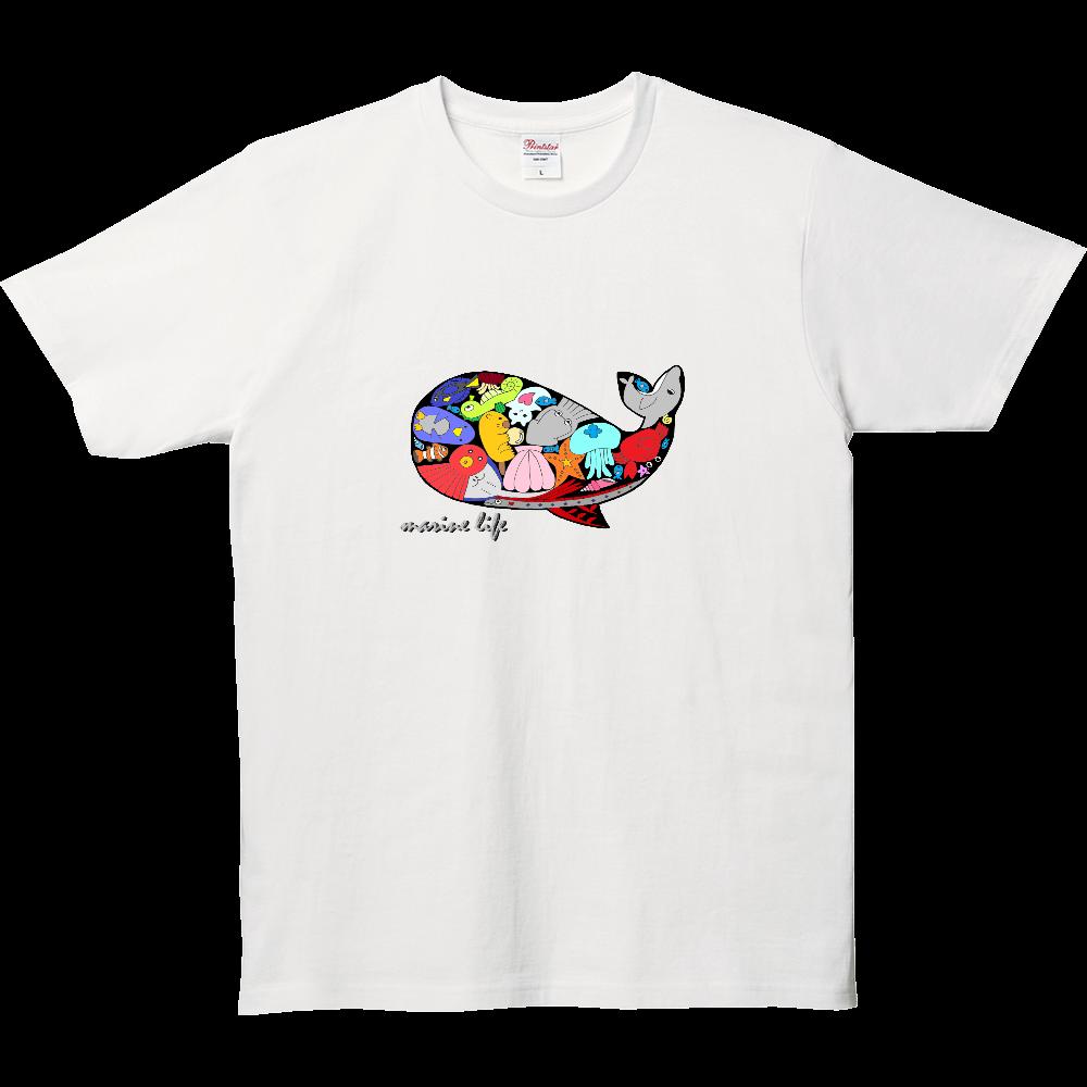 くじら/カラー 5.0オンス ベーシックTシャツ(キッズ)