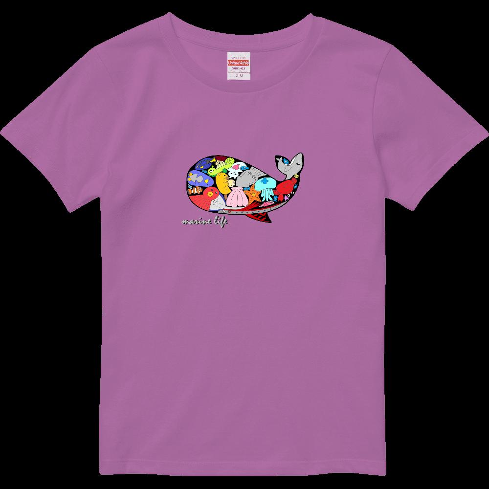 くじら/カラー ハイクオリティーTシャツ(ガールズ)