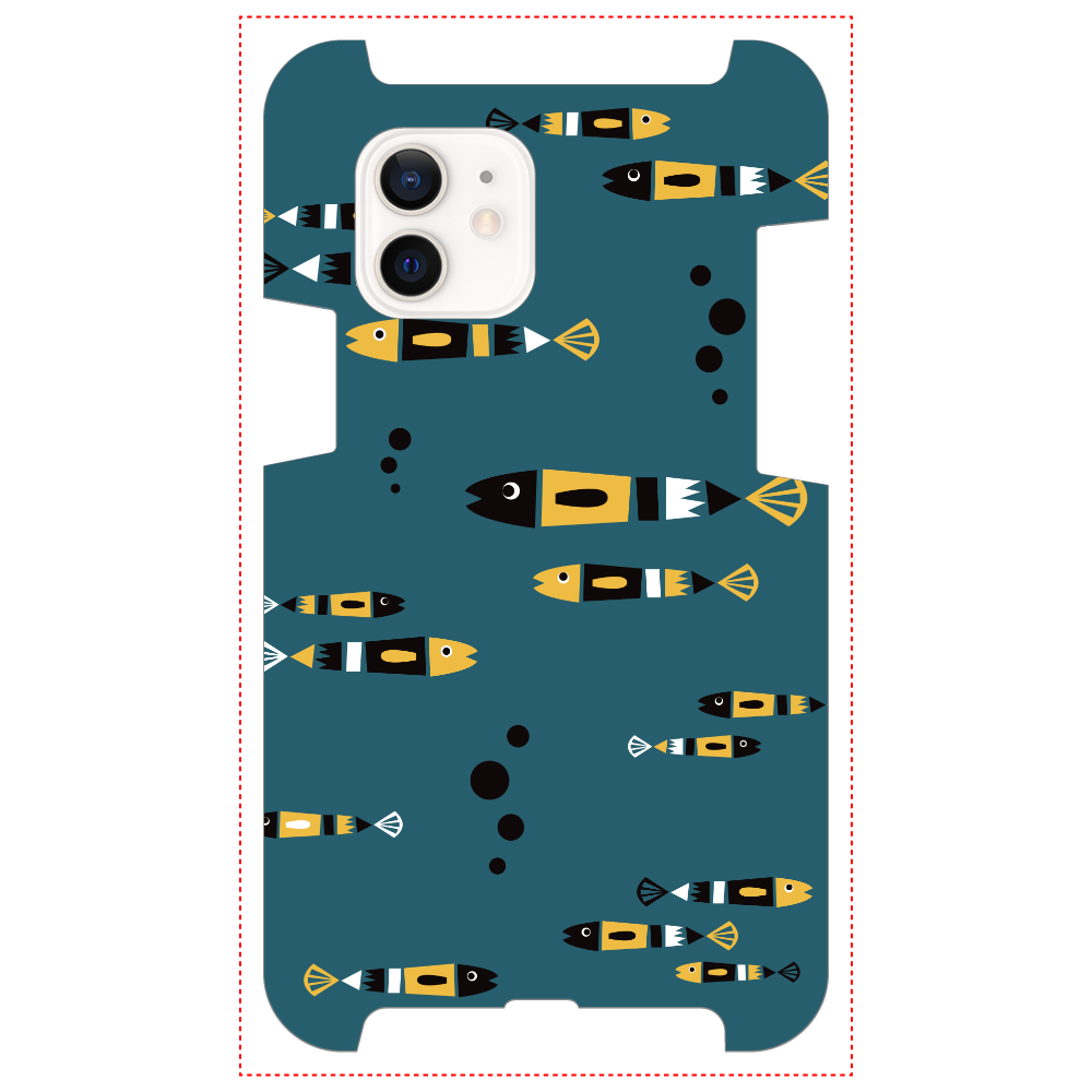 レトロフィッシュ_北欧風 iPhone12 / 12 Pro