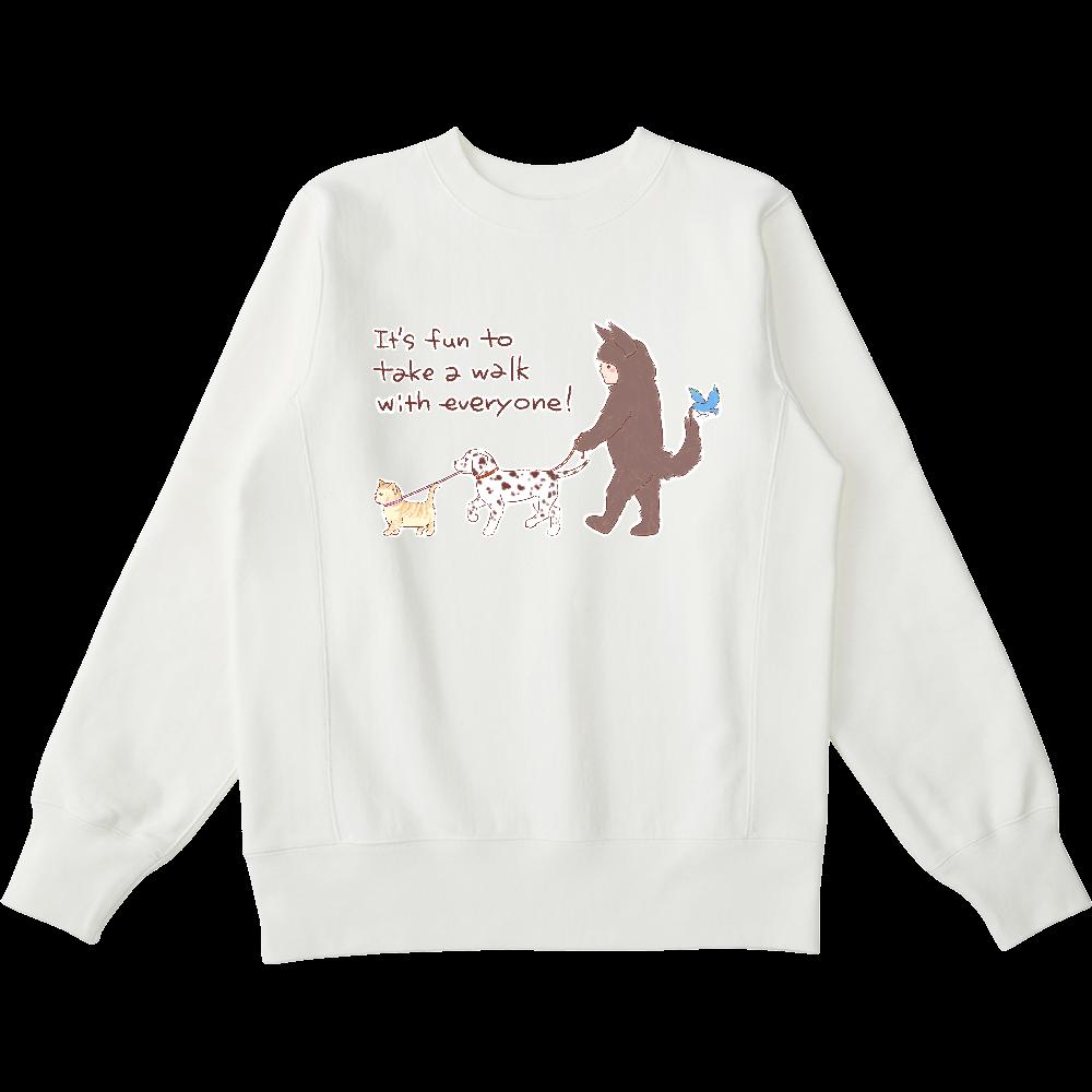お散歩しよう! ヘビーウェイトスウェットシャツ