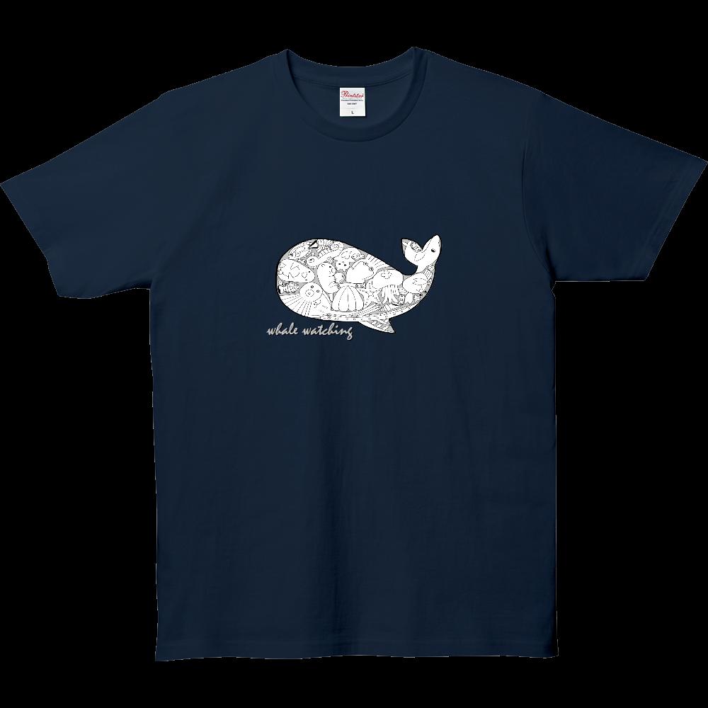 くじら/モノクロ 5.0オンス ベーシックTシャツ(キッズ)