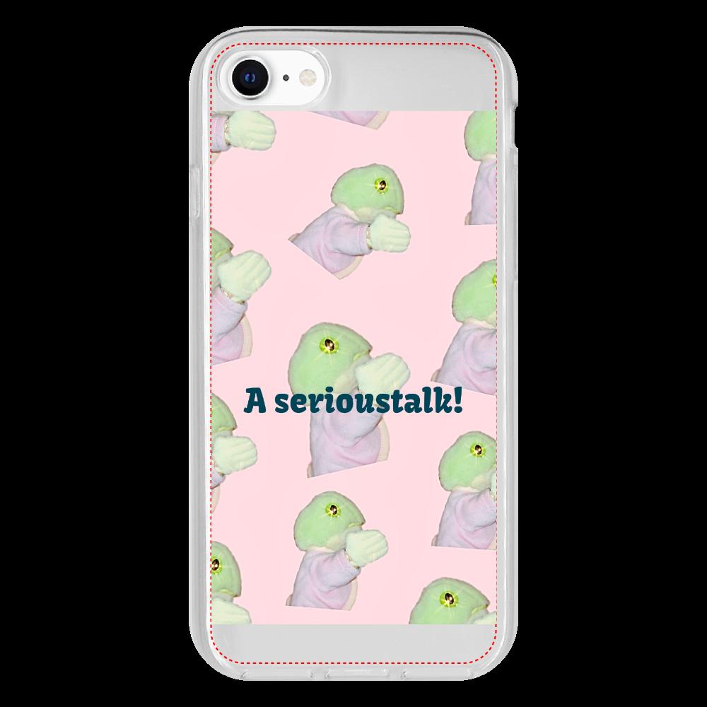 カエルちゃんスマホケース iPhone SE2 抗菌ソフトケース