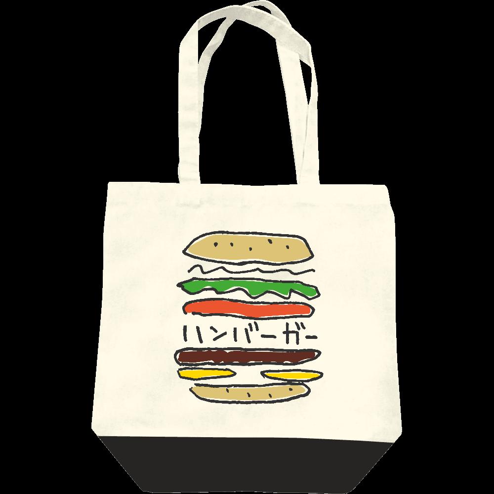 ハンバーガー_カラフル レギュラーキャンバストートバッグ(M)