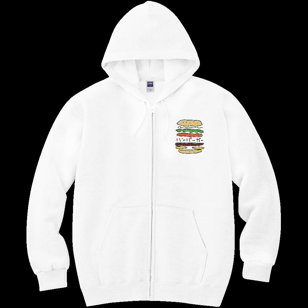 ハンバーガー_カラフル 軽量ジップアップパーカー