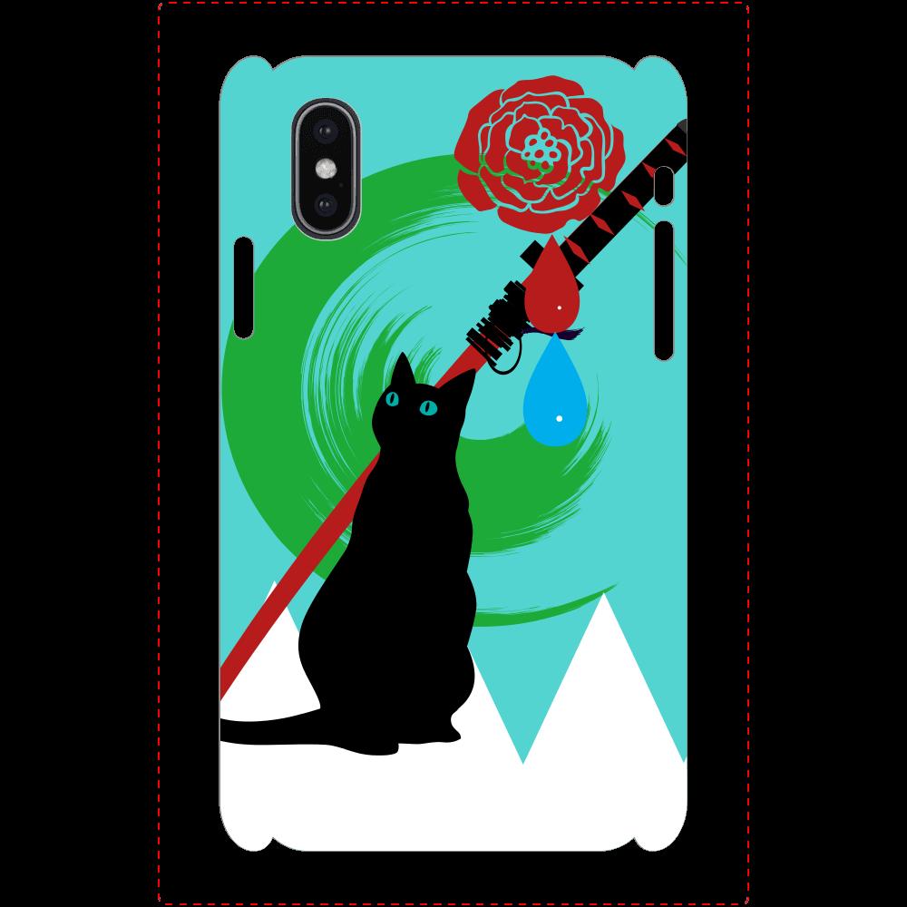 花と水iPhoneケース iPhoneX/Xs