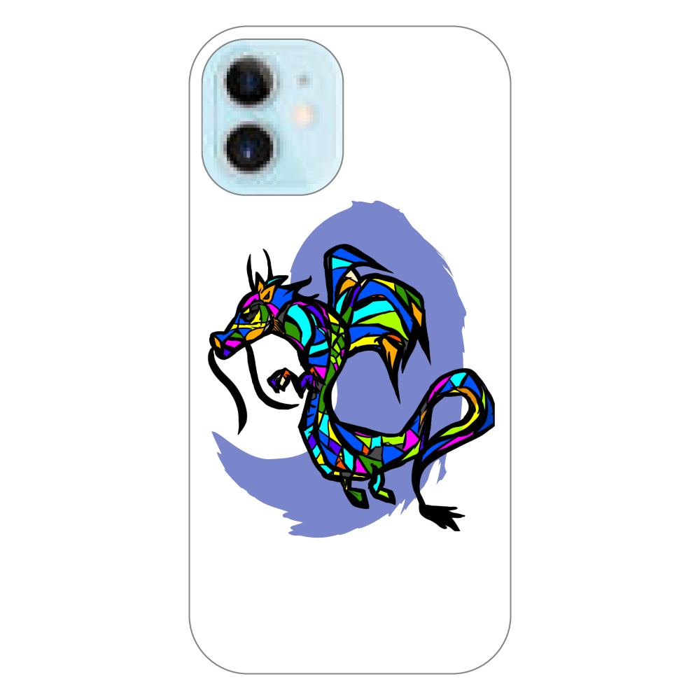 Glass Dragon (辰年用) iPhoneケース iPhone12 mini(透明)