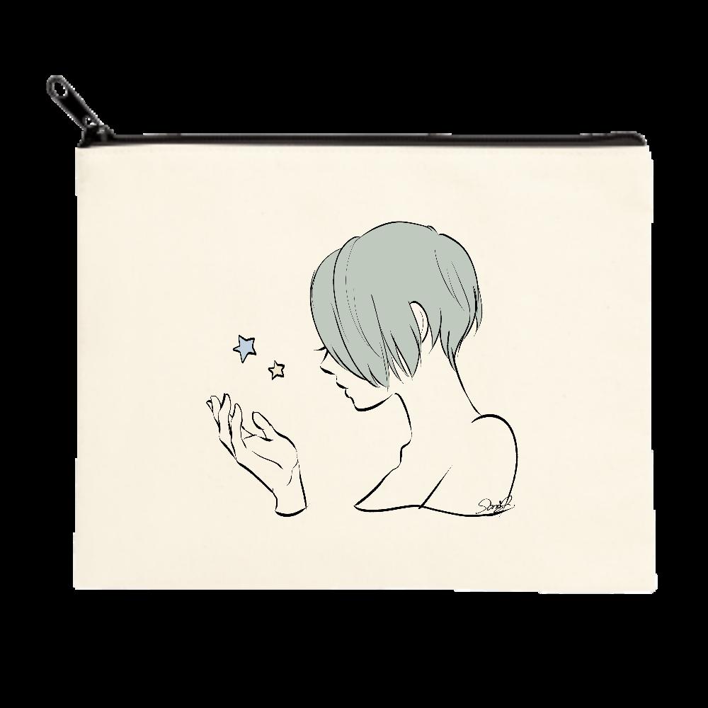 女の子と星のポーチ(M) ポーチ(M)