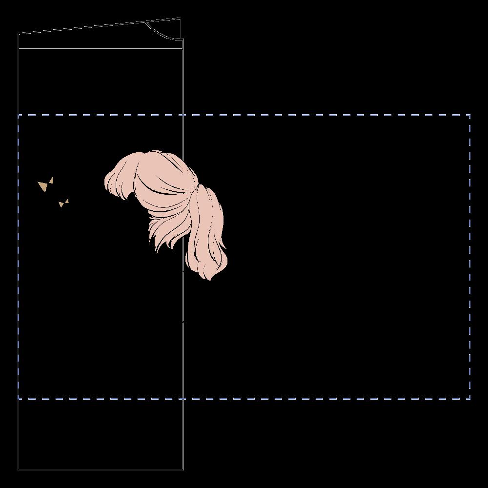女の子×リボンモチーフのタンブラー フタ付サーモストレートタンブラー(450ml)