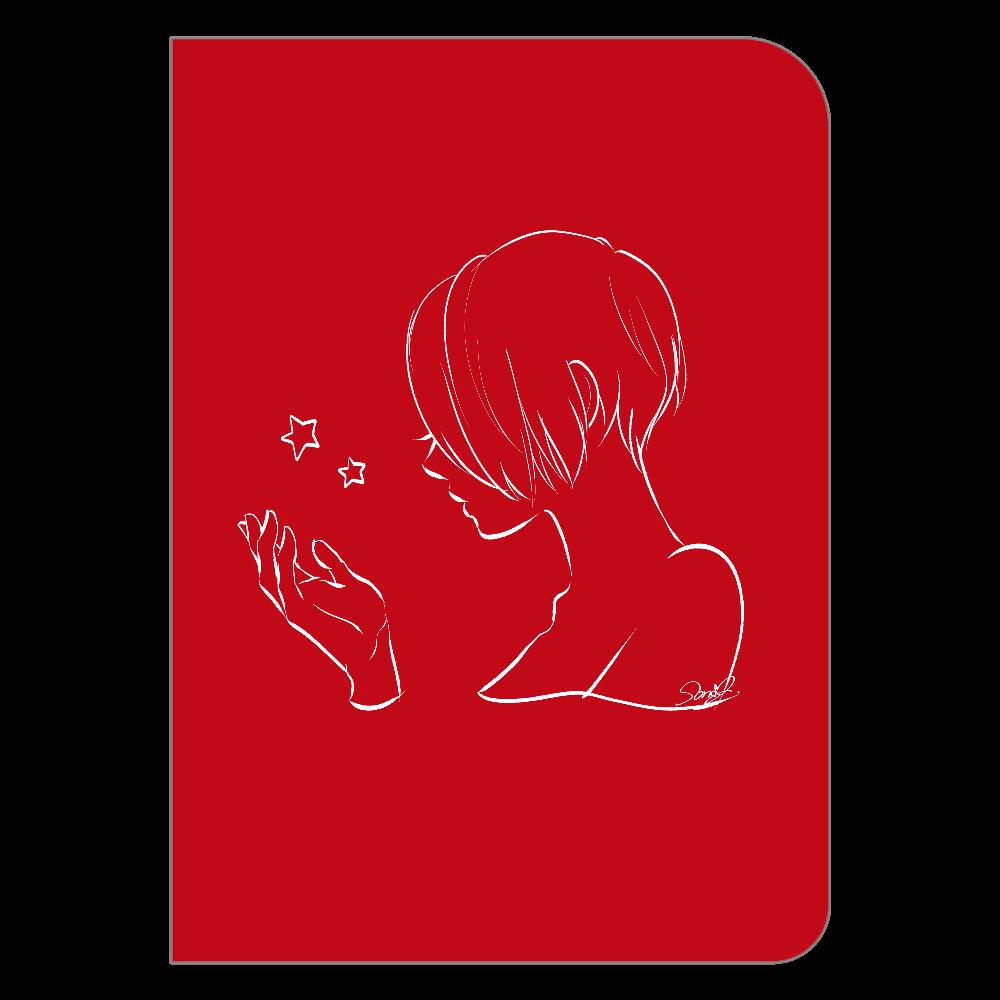 女の子と星のポケットノート ハードカバーポケットノート