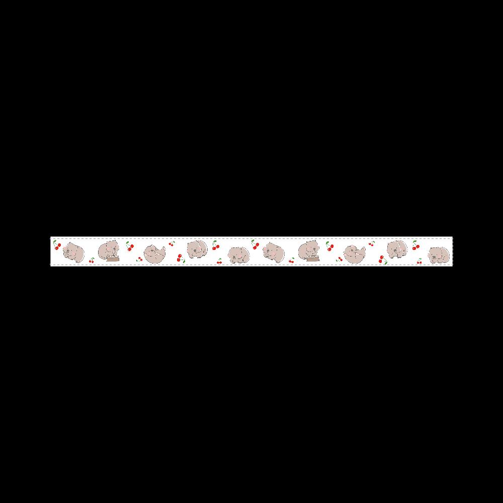 ウォンバットちゃんとさくらんぼのマスキングテープ 15mmマスキングテープ