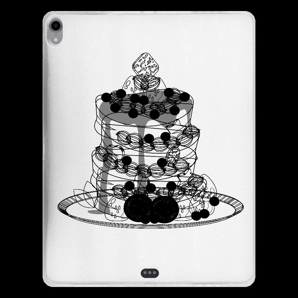 パンケーキ-お祝いデコレーション iPad Pro 12.9インチ(2018年モデル) タブレットケース