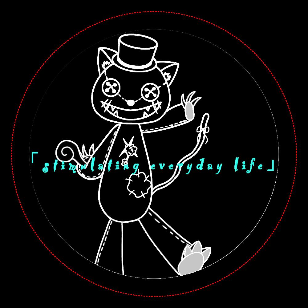 mischivous cat オリジナル缶バッジ(56mm)