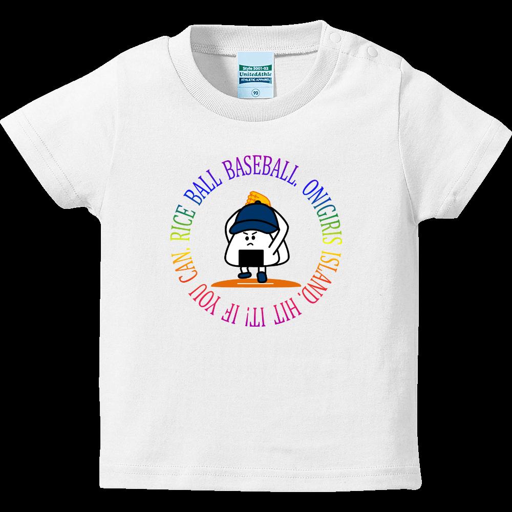90 PITCHER ( レインボーサークル ) ハイクオリティーベビーTシャツ