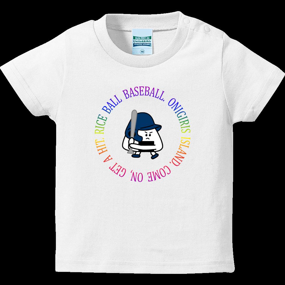 90 BATTER ( レインボーサークル ) ハイクオリティーベビーTシャツ