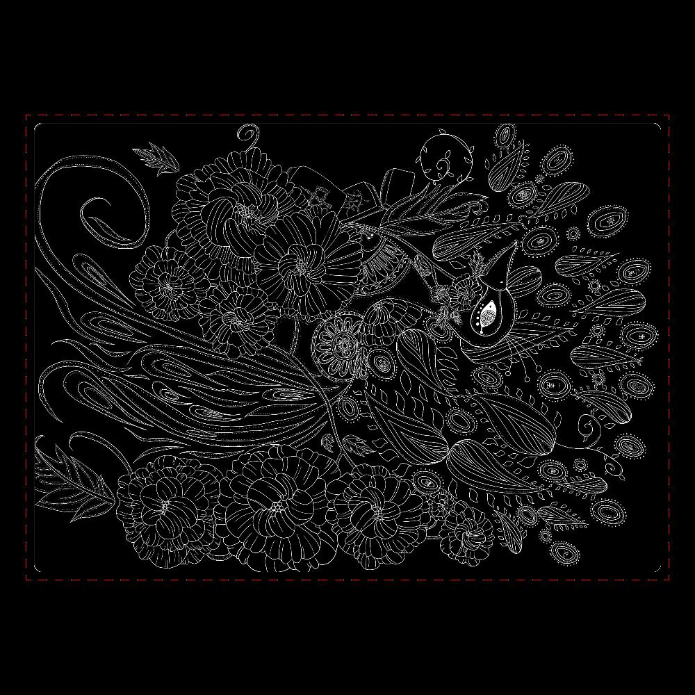 『鸞』黒 ジグソーパズル A4サイズ 104ピース