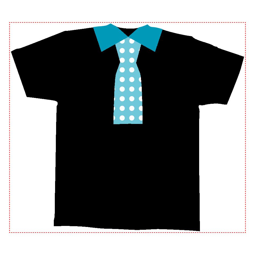 おもしろTシャツ ネクタイプリント メンズ かわいい 全面インクジェットTシャツ(M)