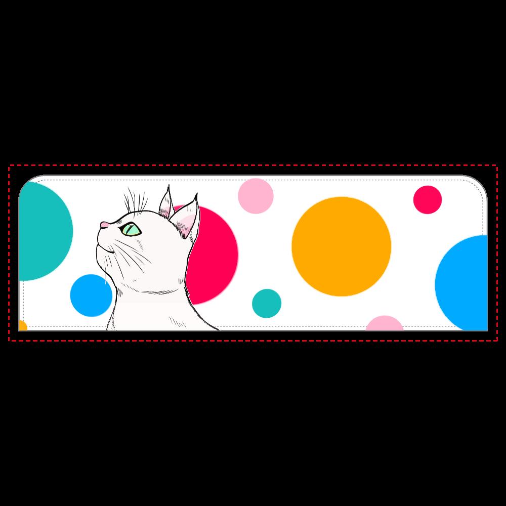 白猫の水玉ペンケース ペンケース