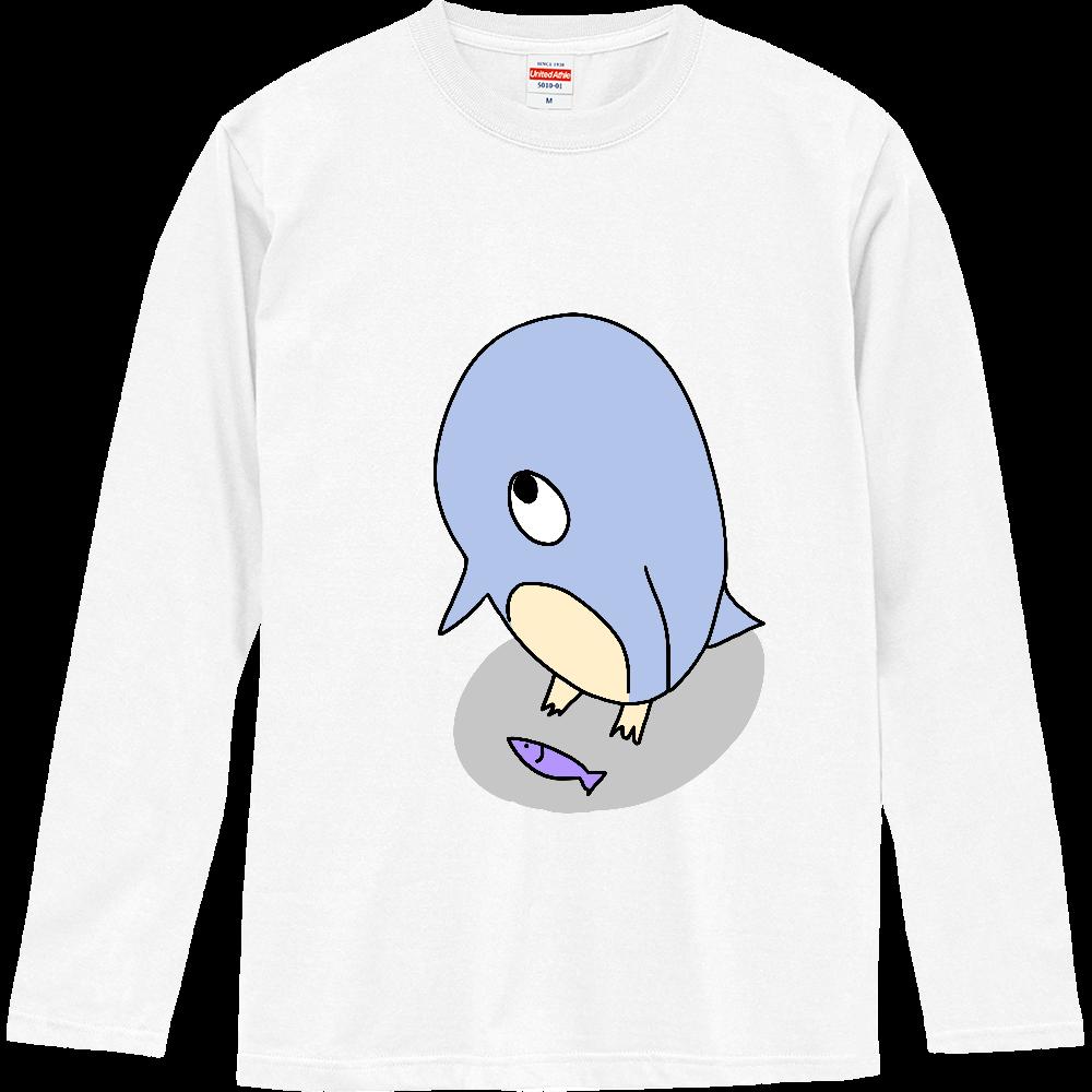 機会を虎視眈々と狙うペンギン ロングスリーブTシャツ