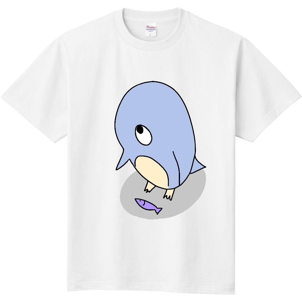 機会を虎視眈々と狙うペンギン 定番Tシャツ