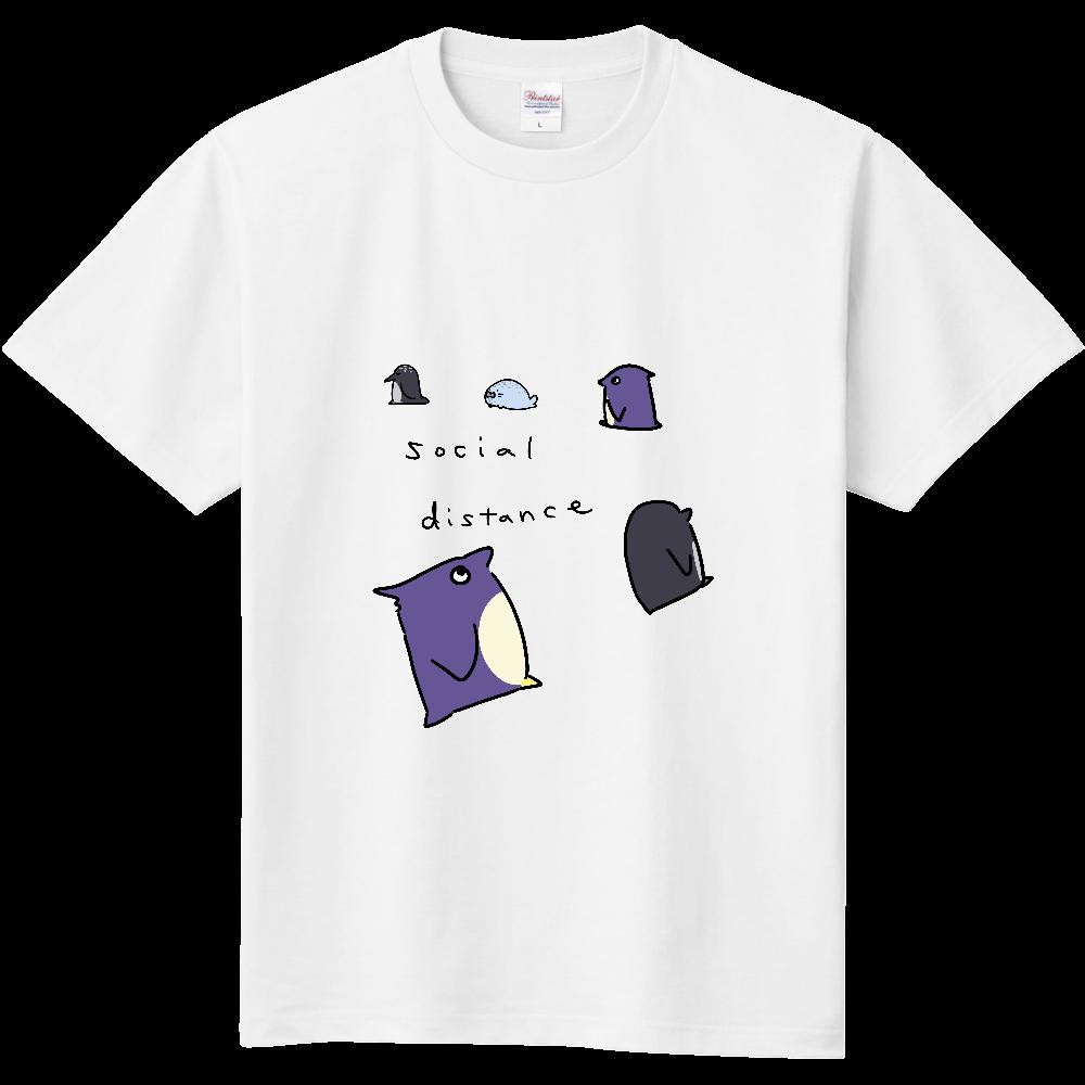 ペンギン達のソーシャルディスタンス 定番Tシャツ