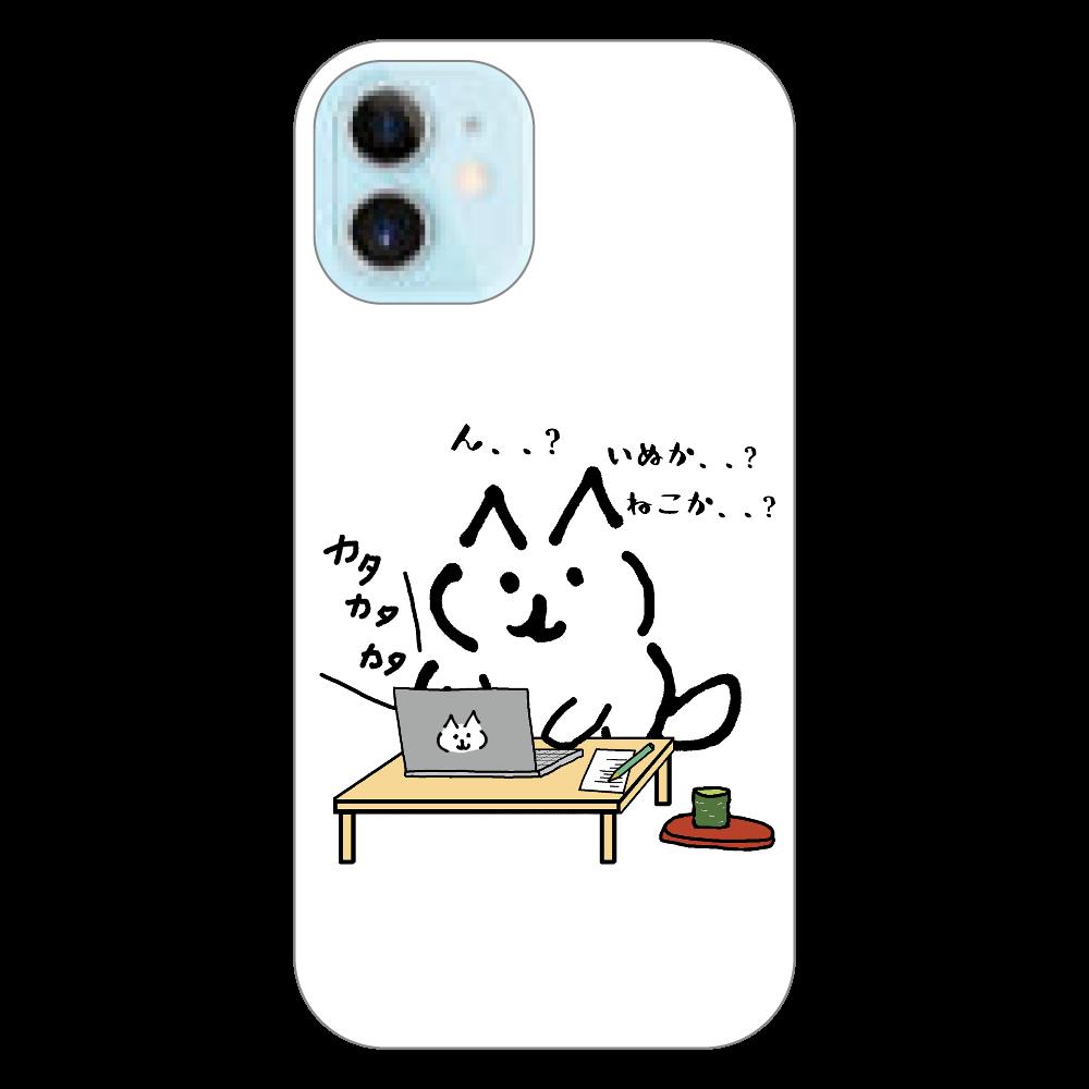 ねこみたいないぬ パソコン  iPhone12mini(透明) iPhone12 mini(透明)