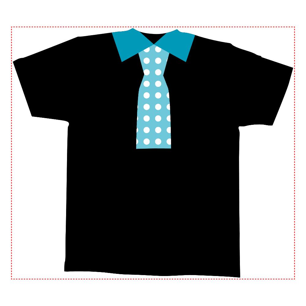 おもしろTシャツ ネクタイプリント 全面と背面で色が違う?!メンズ かわいい 全面インクジェットTシャツ(M)
