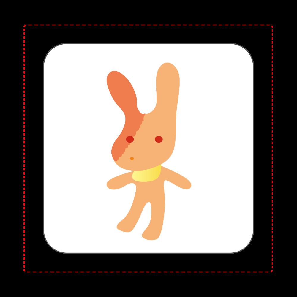 ウサギ ハンカチ ウサギ 全面プリントハンカチタオル