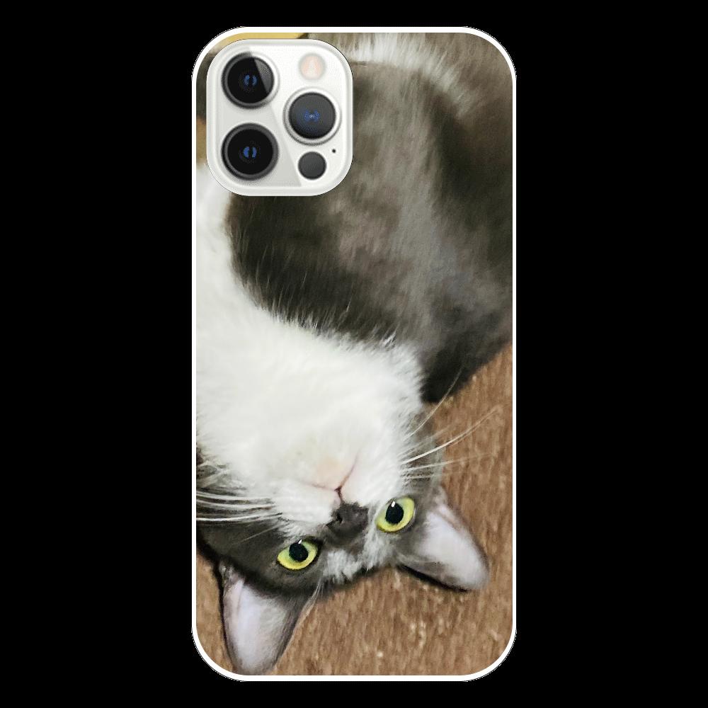 逆さまにゃん iPhone12 Pro(透明)