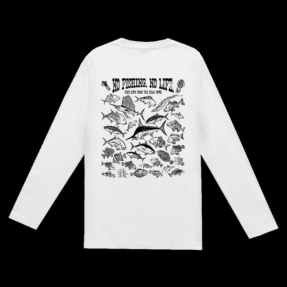 SALTWATER FISH_3K(背面) ヘビーウェイト長袖Tシャツ