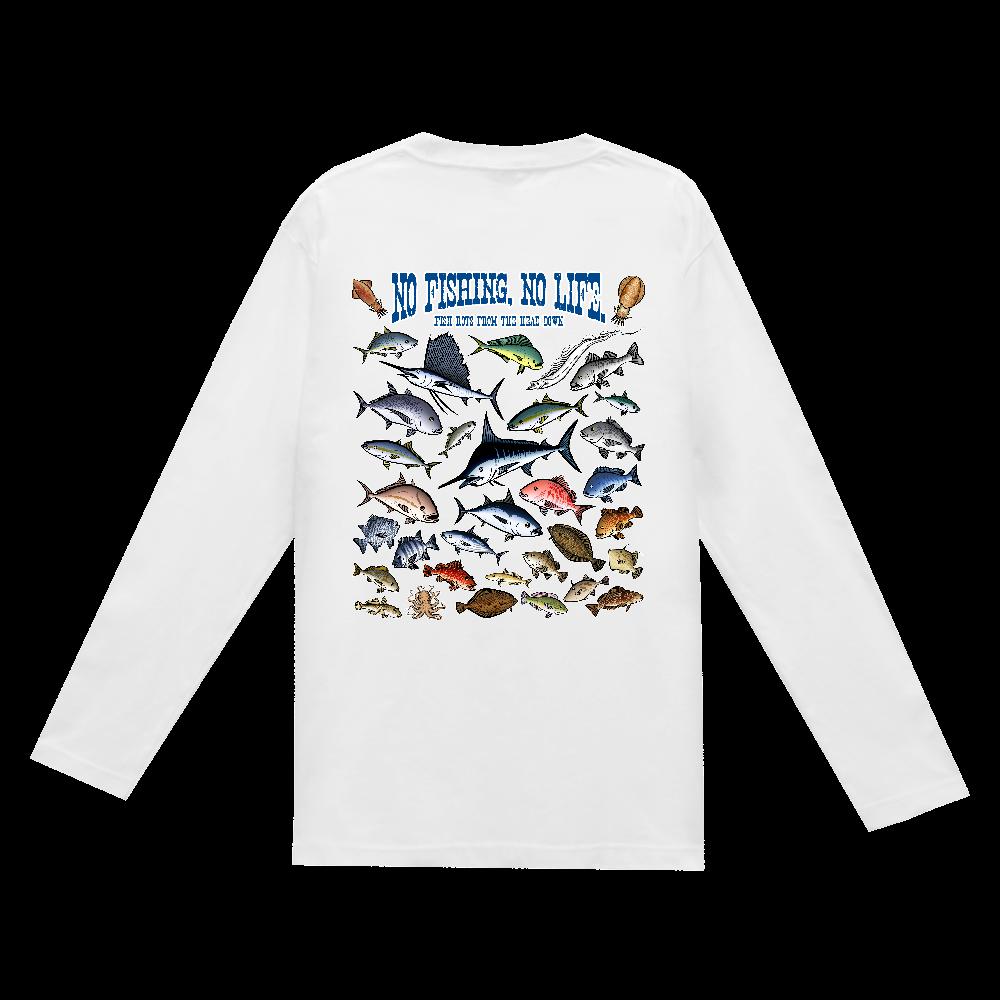 SALTWATER FISH_3CW(背面) ヘビーウェイト長袖Tシャツ