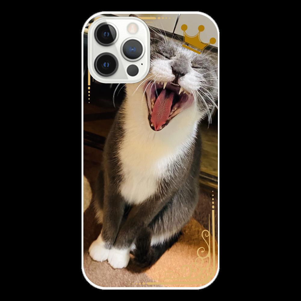 大あくびにゃん iPhone12 Pro(透明)