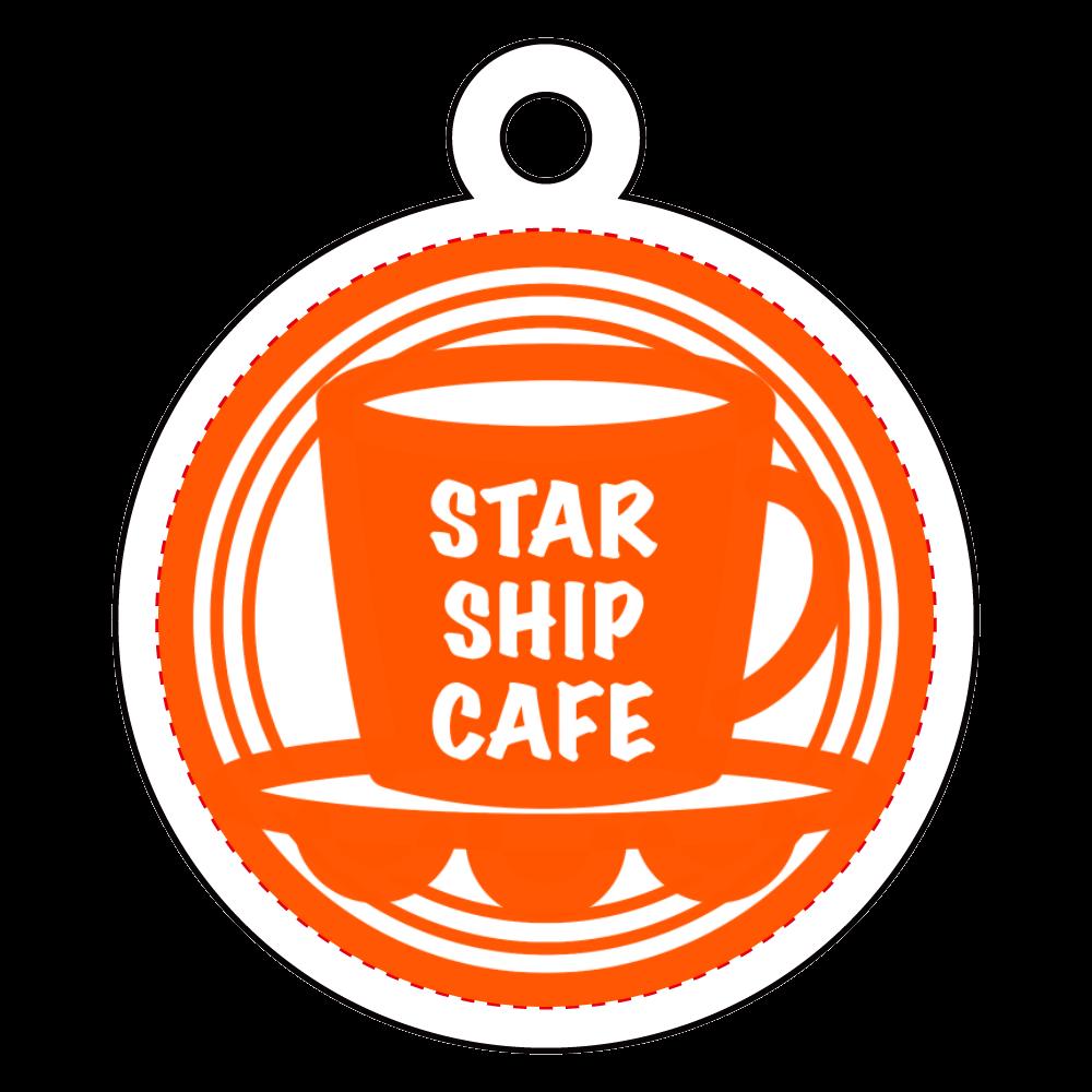 STARSHIPCAFE(Logo) アクリルキーホルダー 丸型 (4cm)