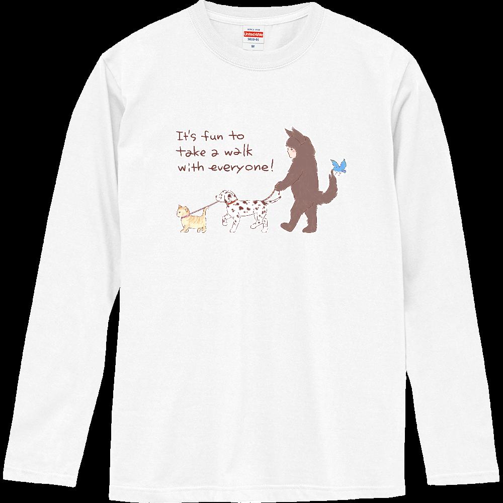 お散歩しよう! ロングスリーブTシャツ