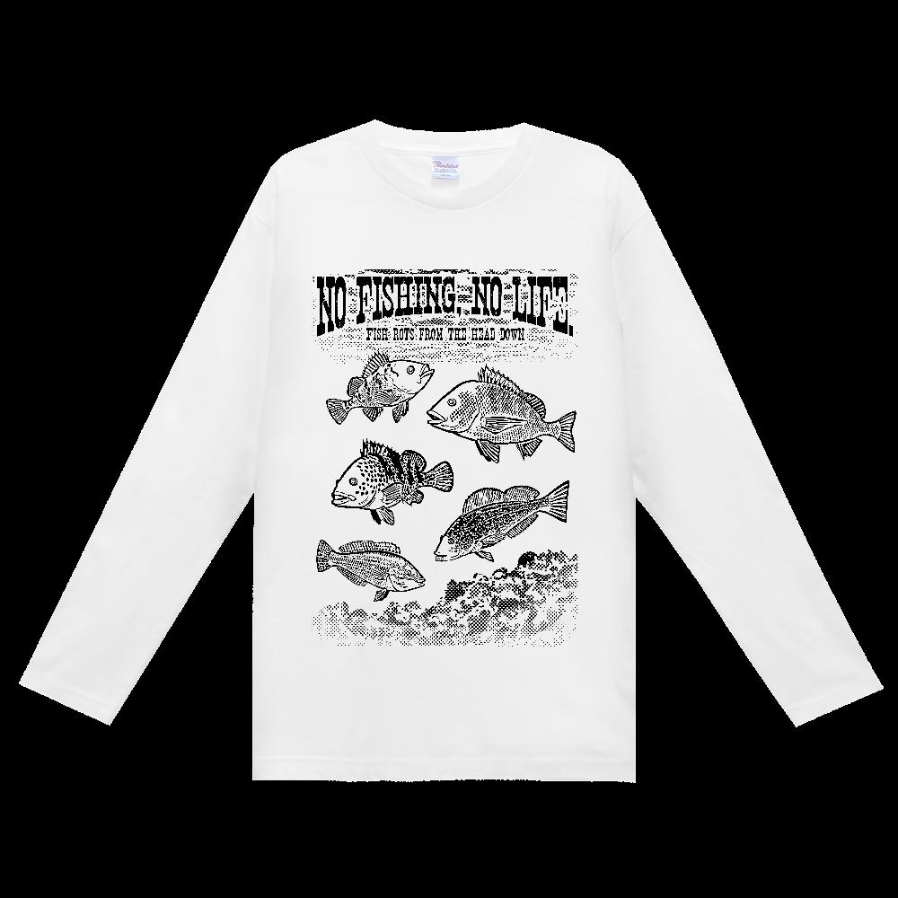 SALTWATER FISH_S2_K ヘビーウェイト長袖Tシャツ