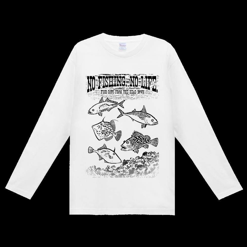 SALTWATER FISH_S3_K ヘビーウェイト長袖Tシャツ