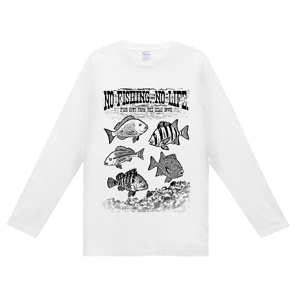 SALTWATER FISH_S4_K ヘビーウェイト長袖Tシャツ