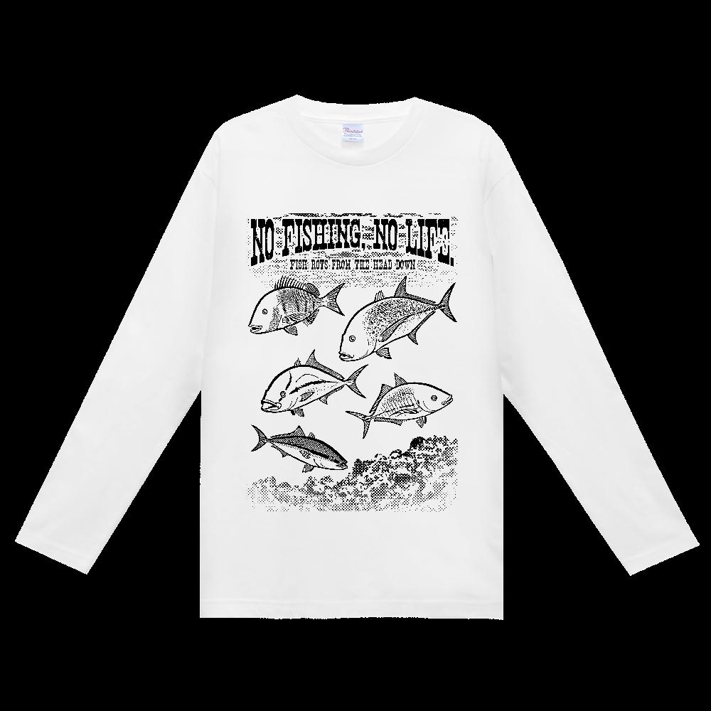 SALTWATER FISH_S5_K ヘビーウェイト長袖Tシャツ