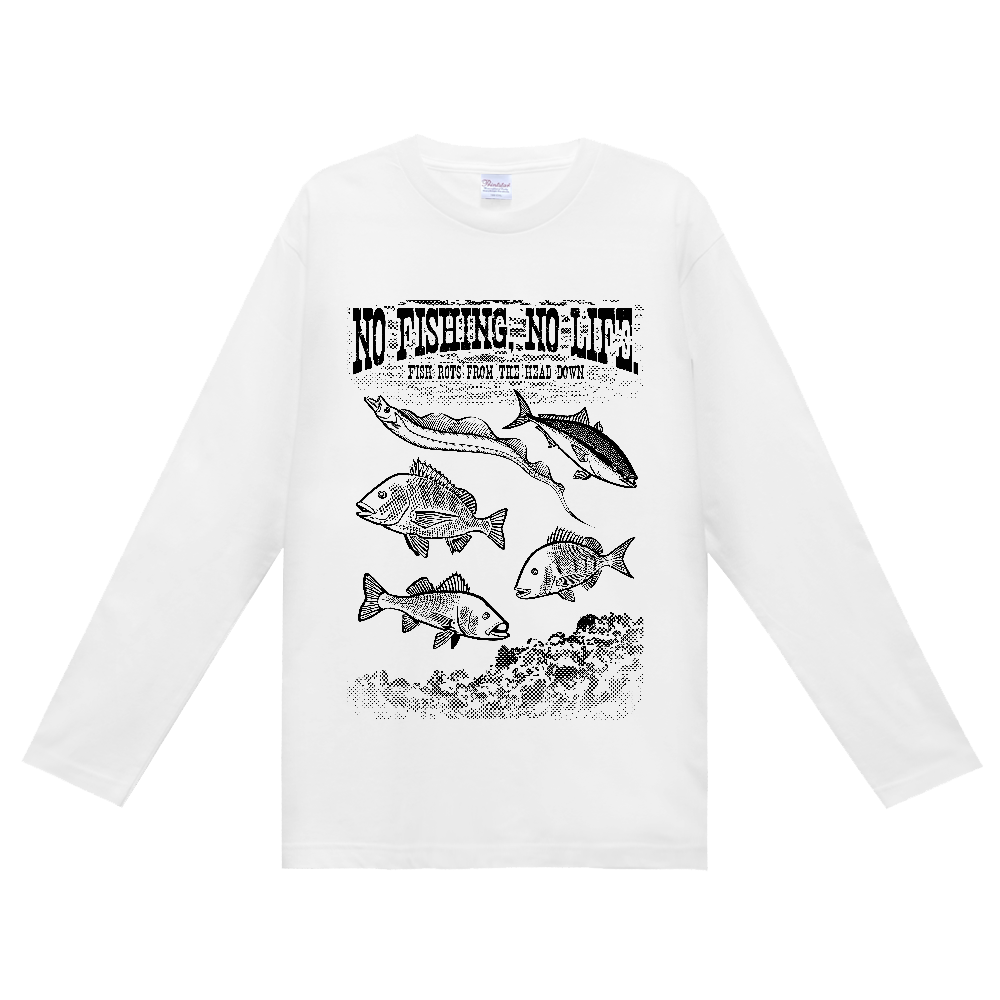 SALTWATER FISH_S6_K ヘビーウェイト長袖Tシャツ