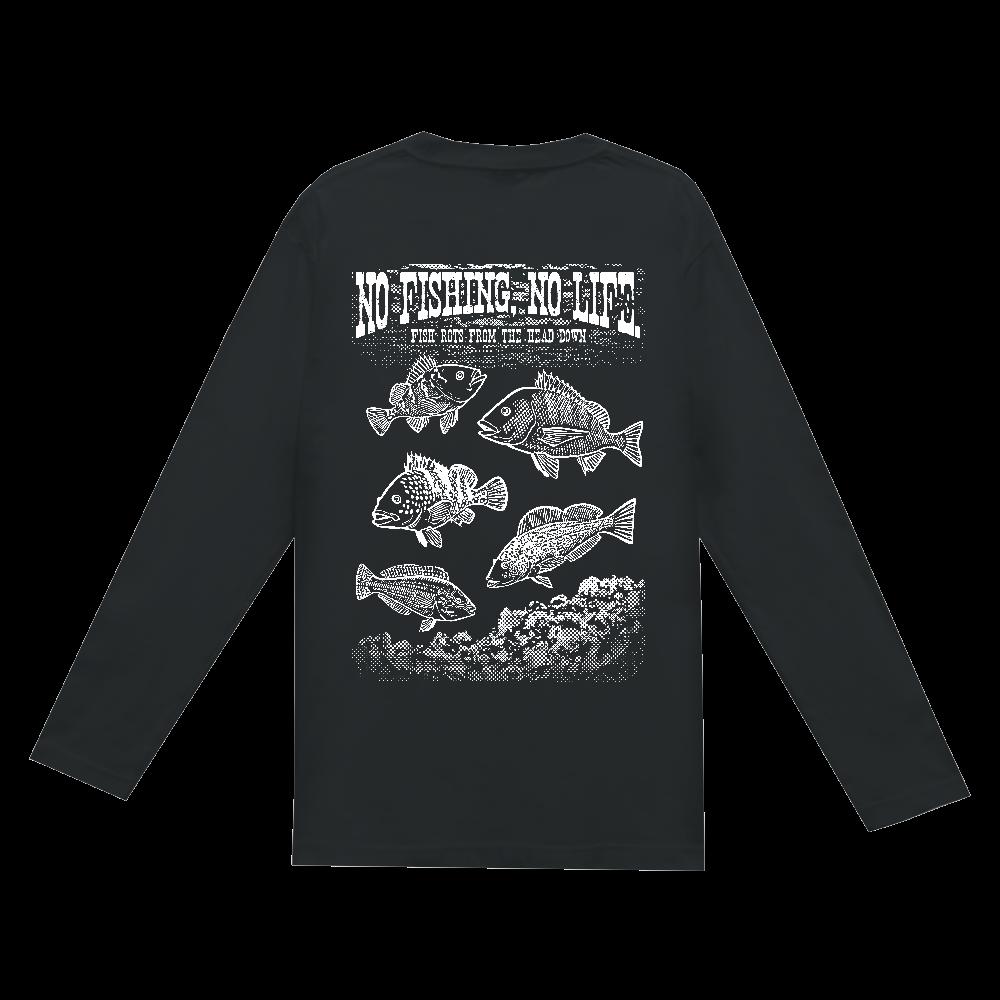 SALTWATER FISH_S2_W(背面) ヘビーウェイト長袖Tシャツ