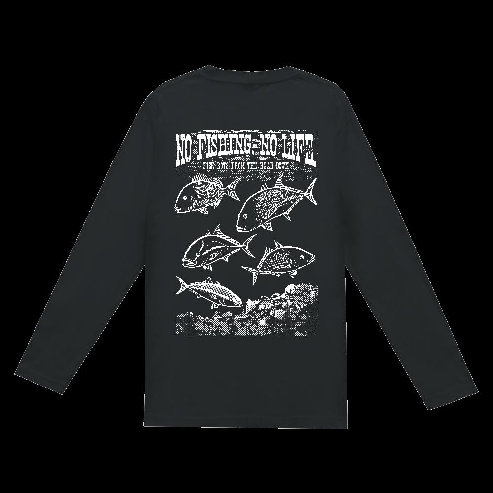 SALTWATER FISH_S5_W(背面) ヘビーウェイト長袖Tシャツ