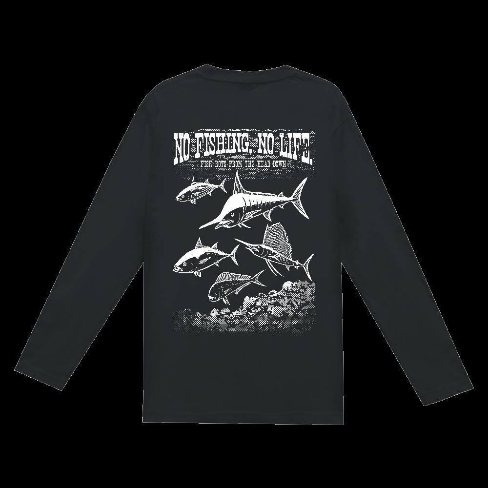 SALTWATER FISH_S7_W(背面) ヘビーウェイト長袖Tシャツ