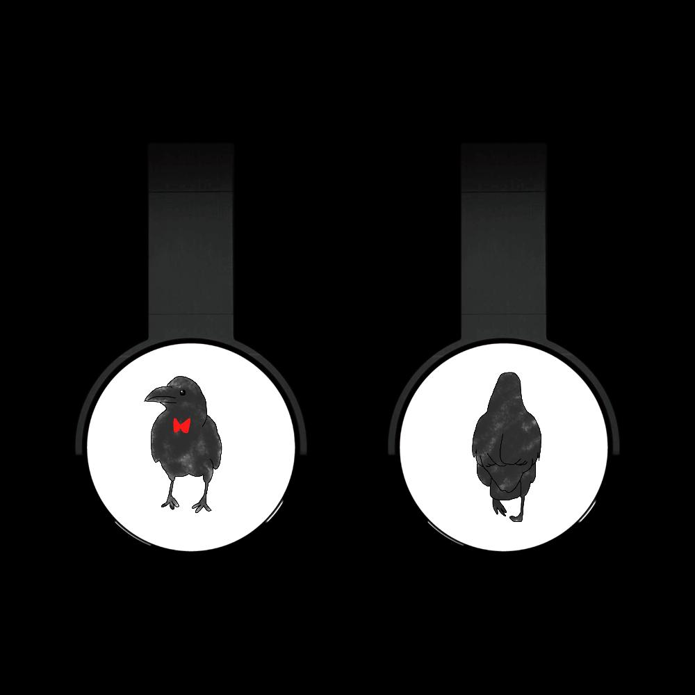 おめかしカラスのBluetoothヘッドフォン Bluetoothヘッドフォン