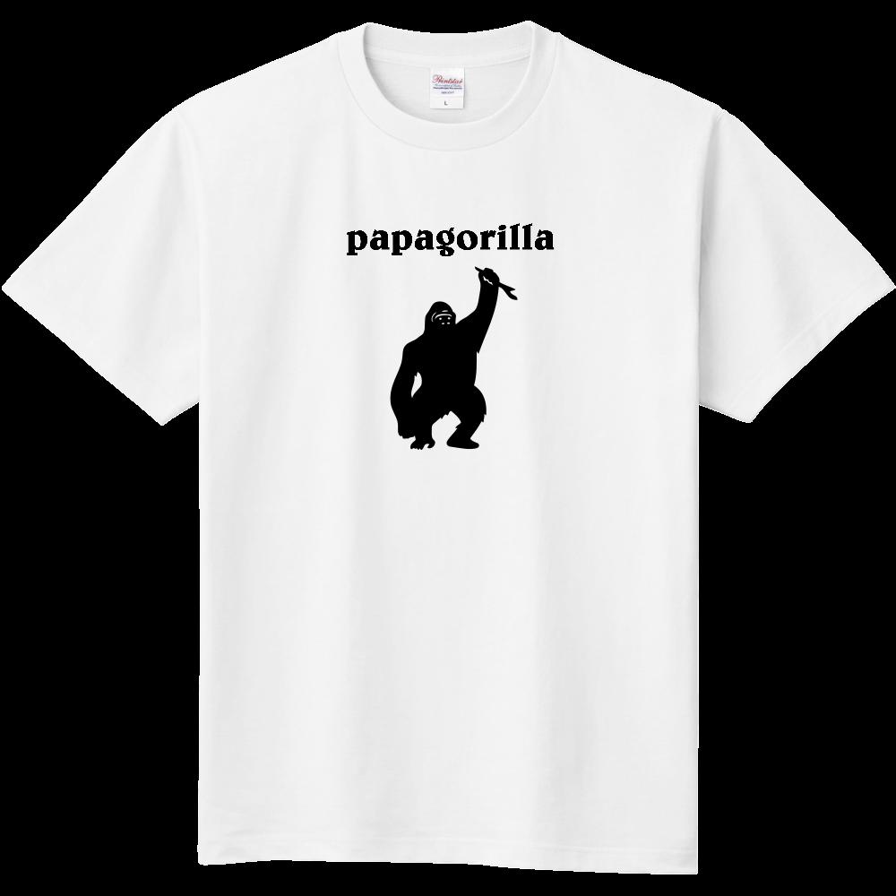 おもしろTシャツ パロディ パタゴニア風 パパ ゴリラ メンズ レディース 定番Tシャツ