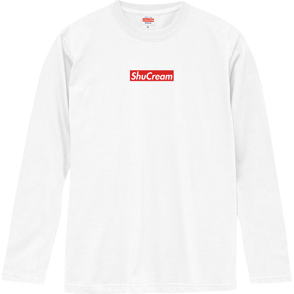 おもしろロングTシャツ Supreme風 パロディTシャツ レディース メンズ ロングスリーブTシャツ