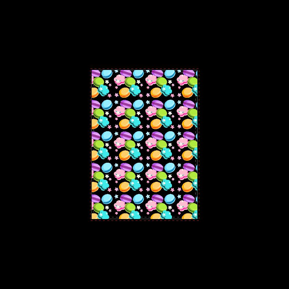 丸・花・ハートの形をしたカラフルなマカロン B5ノート
