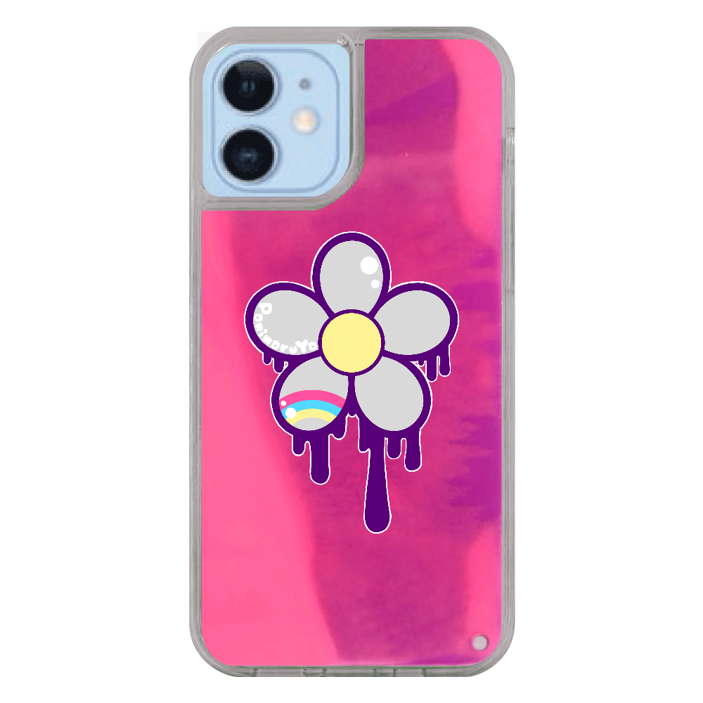 どろどろお花 iPhone12/12pro ネオンサンドケース