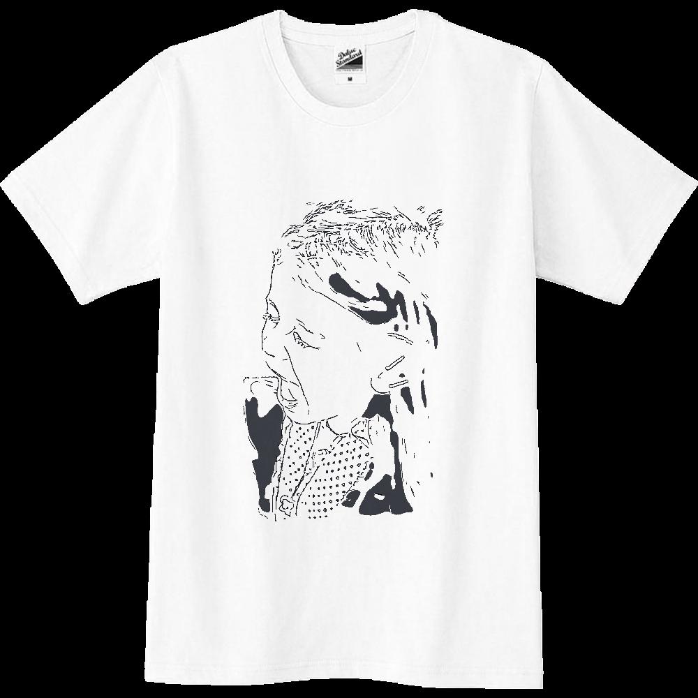 おもしろTシャツ 絶叫系?叫ぶ女の子 メンズ レディース スリムTシャツ