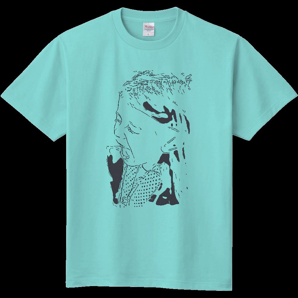 おもしろTシャツ 絶叫系?叫ぶ女の子 メンズ レディース 定番Tシャツ